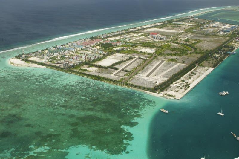 Opinión de Arial una isla de vacaciones fotografía de archivo