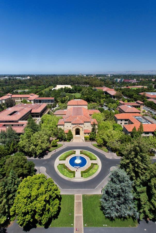 Opinión de arriba Stanford University foto de archivo