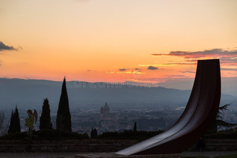 Opinión de Assisi fotos de archivo libres de regalías