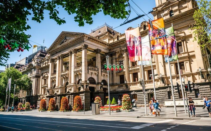 Opinión de ayuntamiento de Melbourne en Melbourne Victoria Australia imagenes de archivo
