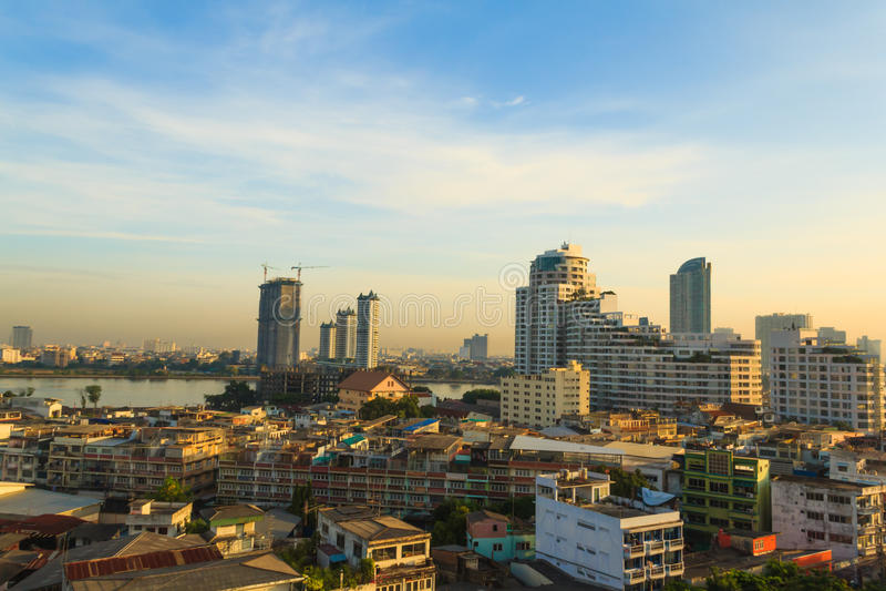 Opinión de Bangkok fotos de archivo