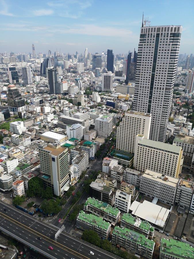Opinión de Bangkok del top fotografía de archivo libre de regalías
