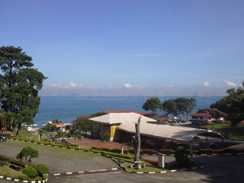 Opinión de Batam del centro turístico de KTM imagen de archivo libre de regalías
