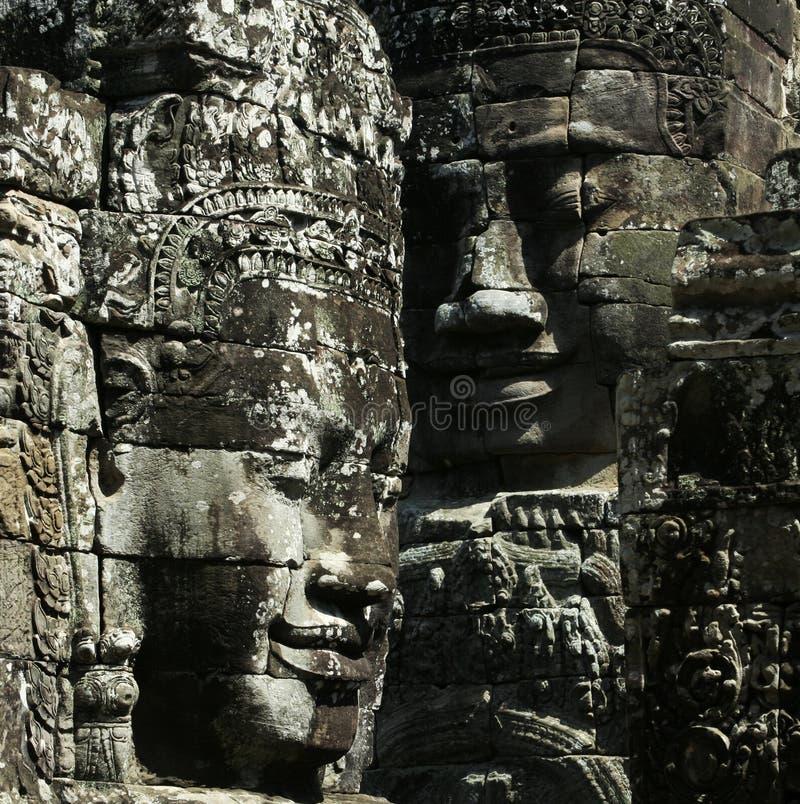 Opinión de Bayon Wat, SiemRiep, Camboya imagen de archivo libre de regalías