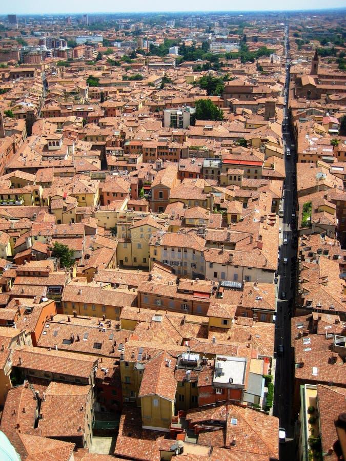 Opinión de Bolonia imagen de archivo libre de regalías