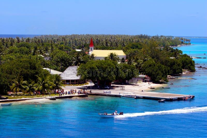 Opinión de Bora Bora Scenic imágenes de archivo libres de regalías
