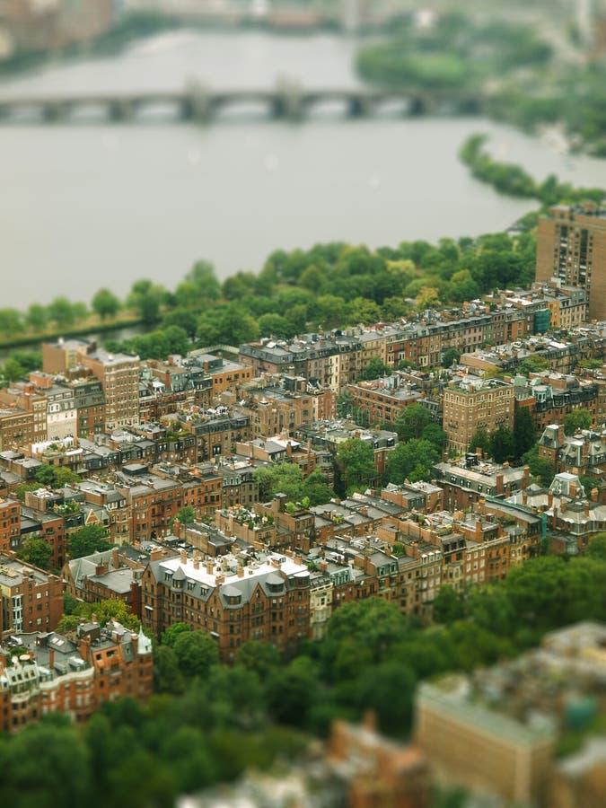 Opinión de Boston fotografía de archivo