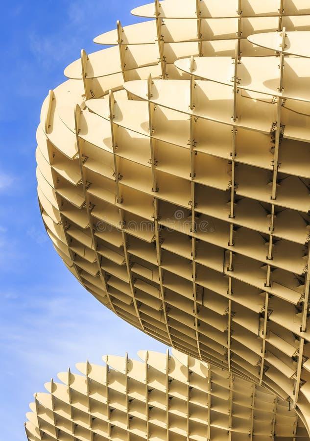 Opinión de Bottom Up las setas de Sevilla, también conocidas como parasol de Metropol Fue diseñado por el arquitecto alemán Jurge imágenes de archivo libres de regalías