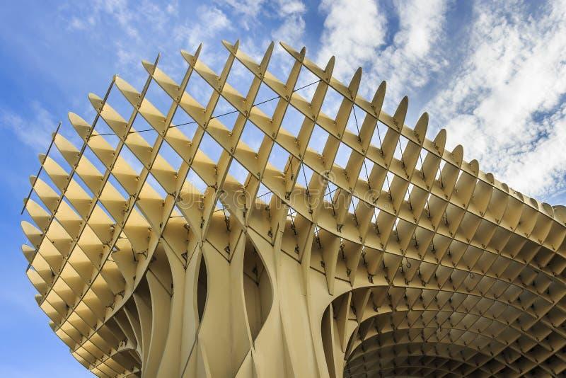 Opinión de Bottom Up las setas de Sevilla, también conocidas como parasol de Metropol Fue diseñado por el arquitecto alemán Jurge fotos de archivo