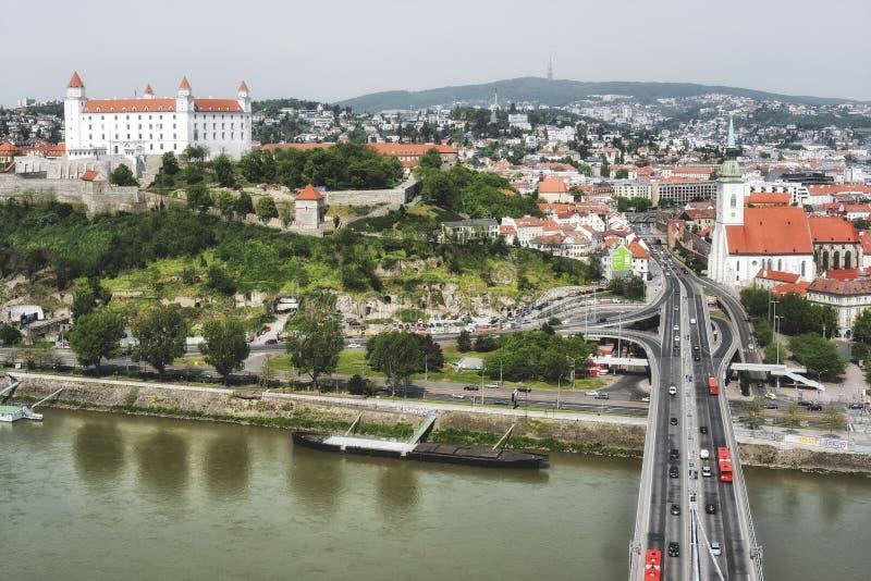 Opinión de Bratislava, capital de Eslovaquia fotografía de archivo