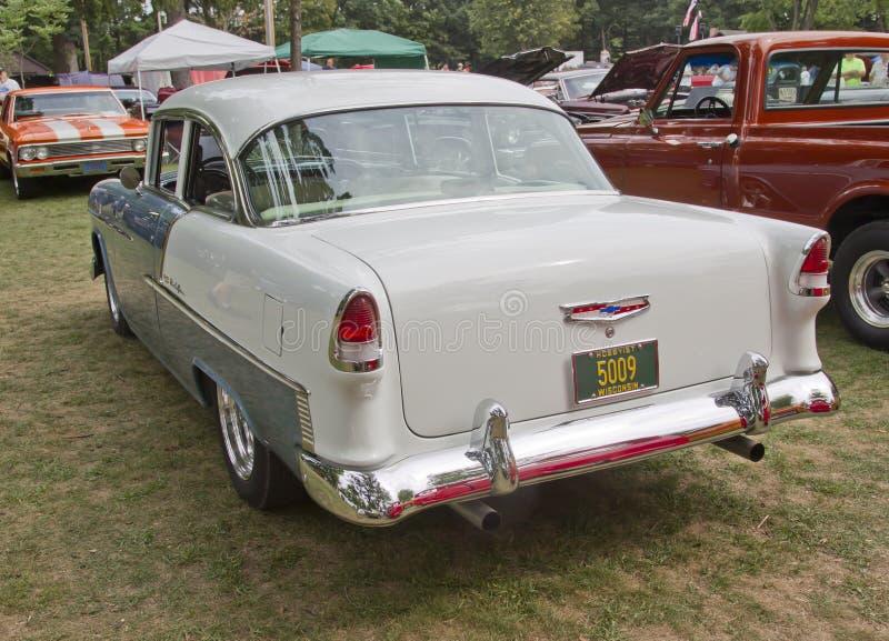 Opinión 1955 de Chevy Bel Air Rear foto de archivo libre de regalías