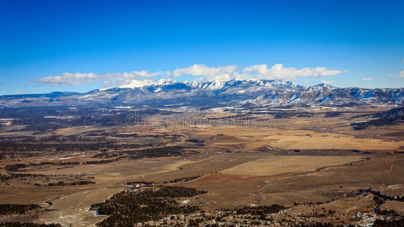 Opinión de Colorado del sudoeste fotografía de archivo