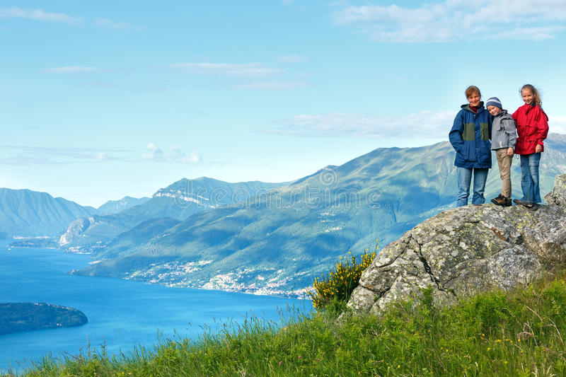 Opinión de Como del lago (Italia) imagen de archivo libre de regalías