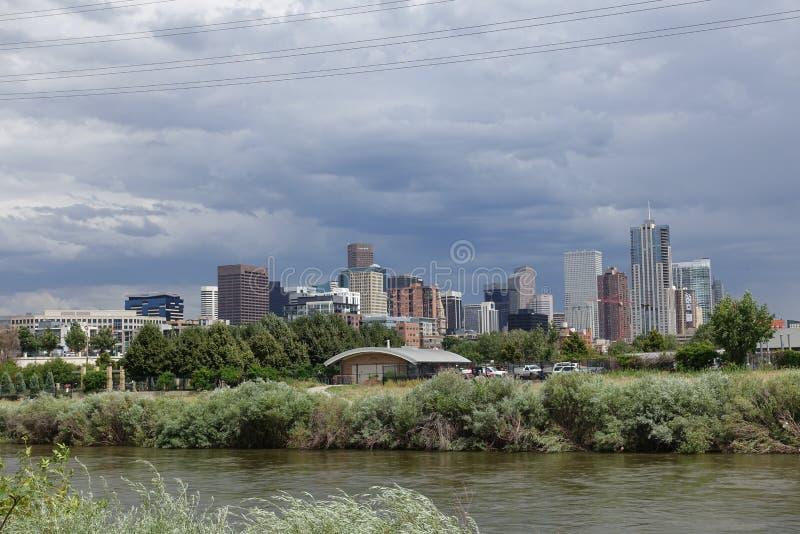 Opinión de Denver sobre el centro de la ciudad 2015 fotos de archivo
