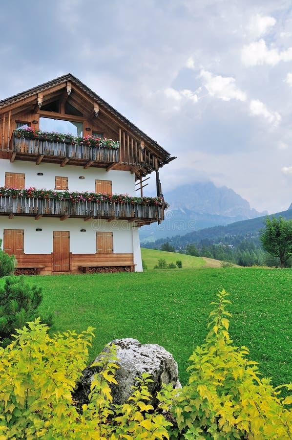 Opinión de Dolomiti en Italia imágenes de archivo libres de regalías