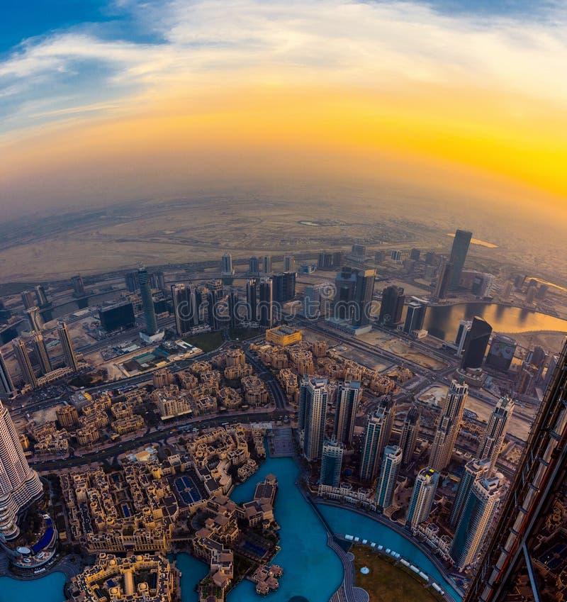 Opinión de Dubai fotografía de archivo