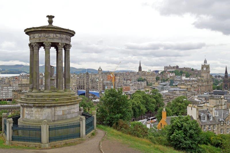 Opinión de Edimburgo de la colina de Calton Escocia, Reino Unido fotos de archivo libres de regalías