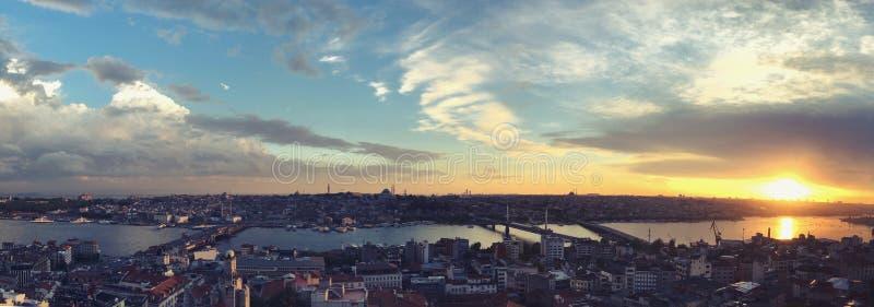 Opinión de Estambul desde arriba foto de archivo