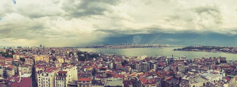 Opinión de Estambul desde arriba imágenes de archivo libres de regalías
