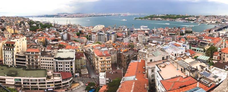 Opinión de Estambul desde arriba imagen de archivo libre de regalías