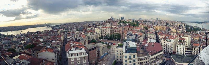 Opinión de Estambul desde arriba fotografía de archivo