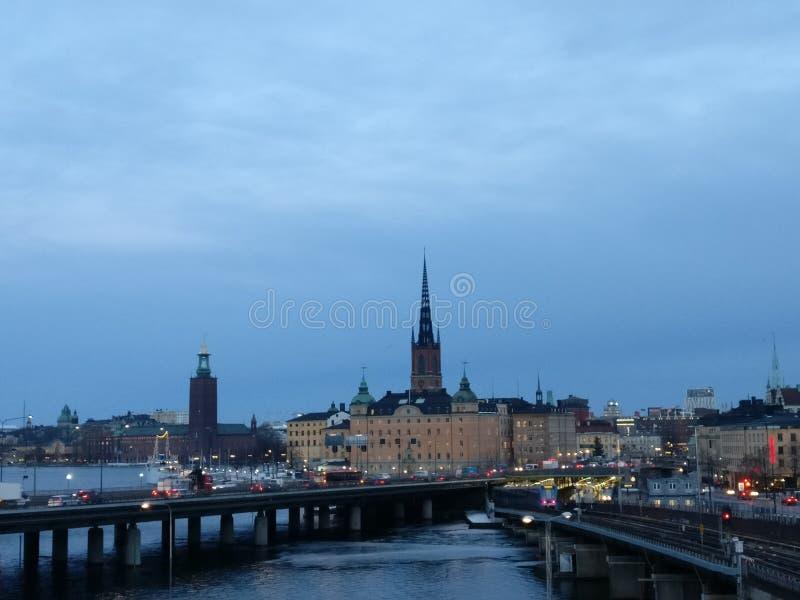 Opinión de Estocolmo sobre ciudad fotografía de archivo libre de regalías