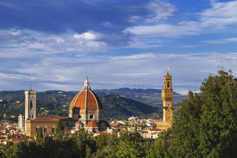 Opinión de Florencia del jardín de Boboli imágenes de archivo libres de regalías