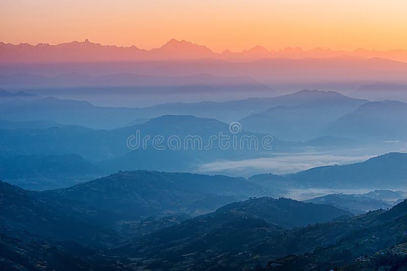 Opinión de Himalaya imagen de archivo