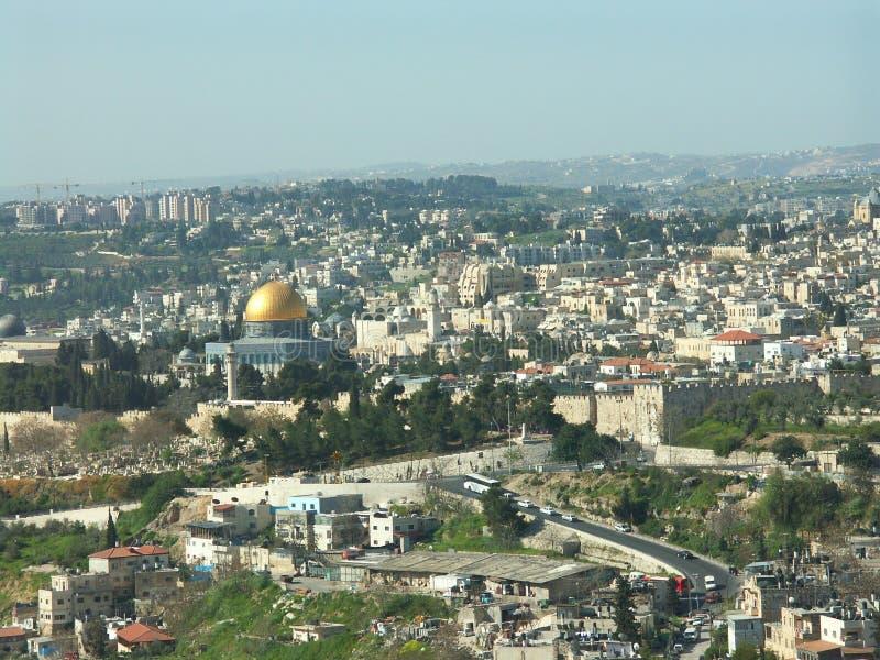 Opinión de Jerusalén fotos de archivo libres de regalías