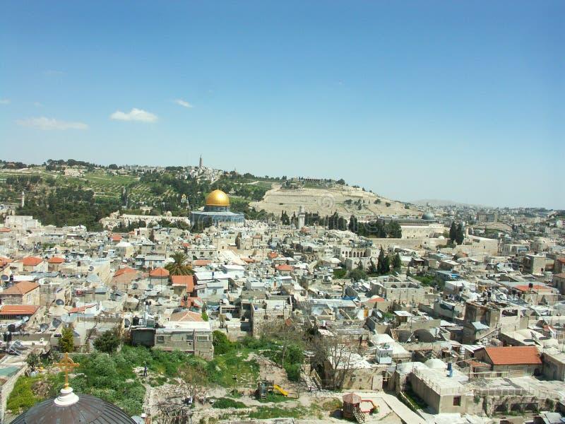 Opinión de Jerusalén fotografía de archivo libre de regalías