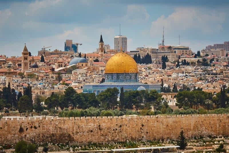 Opinión de Jerusalén Al Aqsa foto de archivo