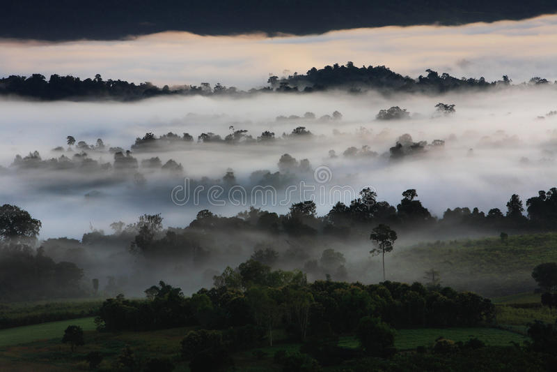 Opinión de Khao Kho fotos de archivo libres de regalías