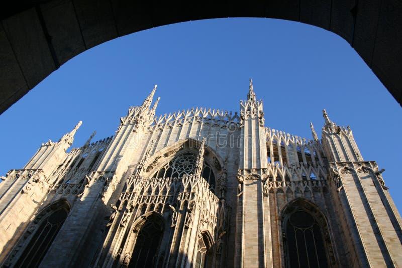 Opinión de la bóveda de Milano imagen de archivo