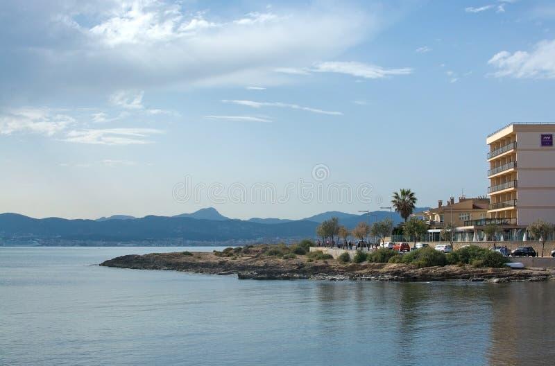 Opinión de la bahía hacia Palma fotos de archivo