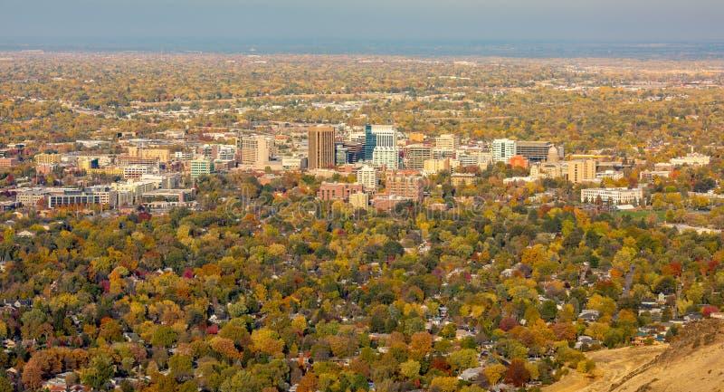 Opinión de la caída Boise Idaho desde arriba imagenes de archivo