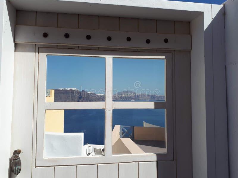 Opinión de la caldera - Santorini foto de archivo libre de regalías