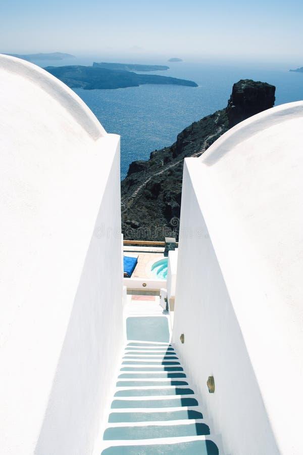 Opinión de la caldera, Santorini imagen de archivo libre de regalías