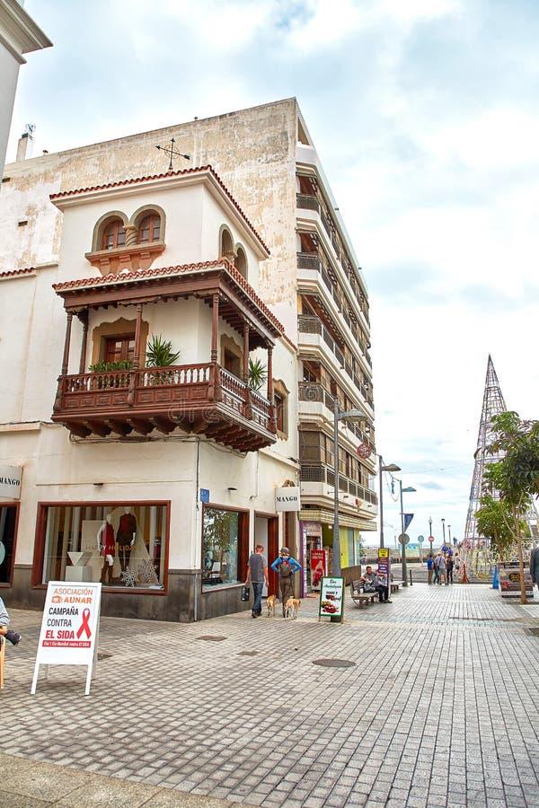 Opinión de la calle de Arrecife imagen de archivo libre de regalías
