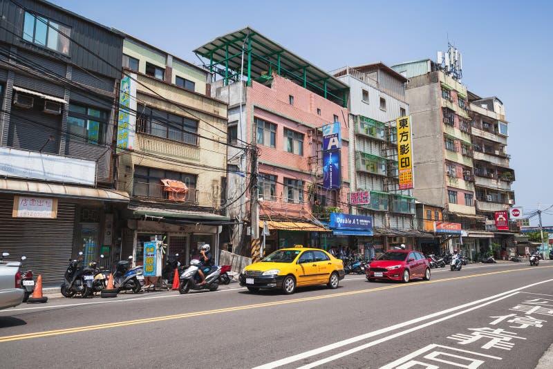 Opinión de la calle de la ciudad de Keelung, Taiwán fotografía de archivo
