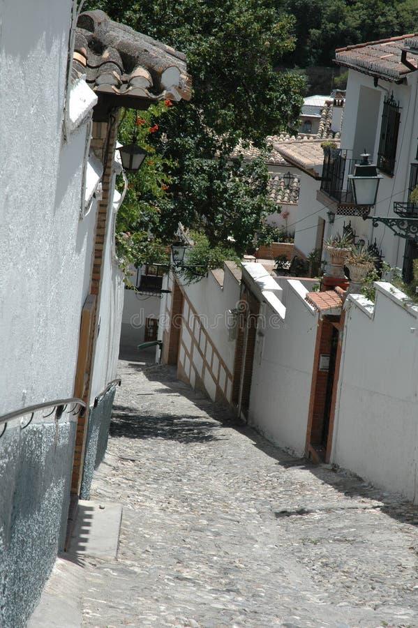 Opinión de la calle de Albaicin imagen de archivo