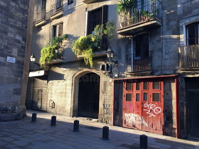 Opinión de la calle de Barcelona fotografía de archivo libre de regalías