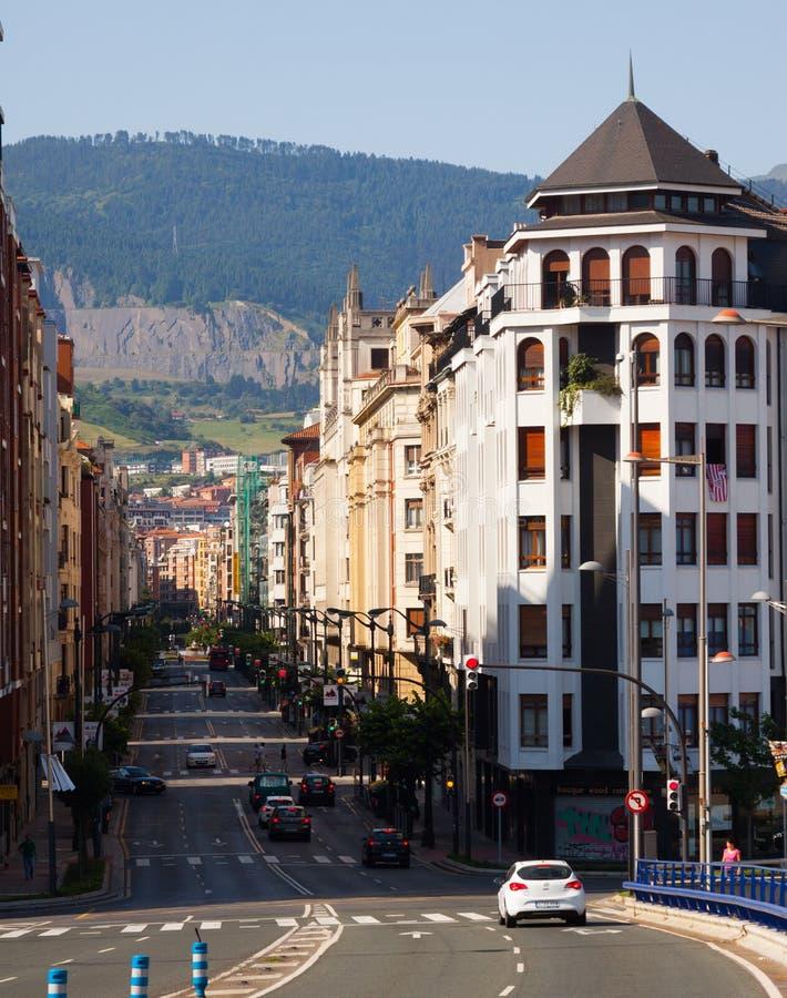 Opinión de la calle de Bilbao foto de archivo