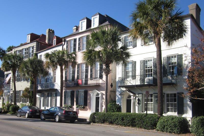 Opinión de la calle de Charleston, Carolina del Sur foto de archivo