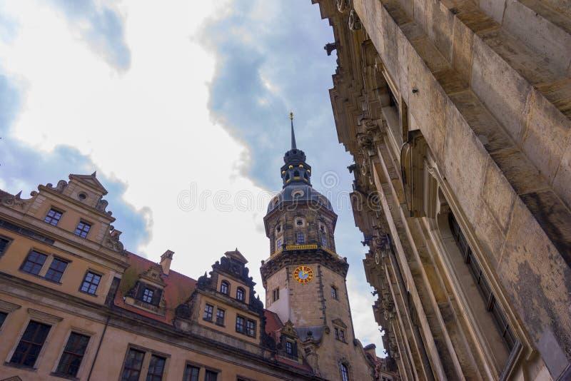 Opinión de la calle de Dresden foto de archivo