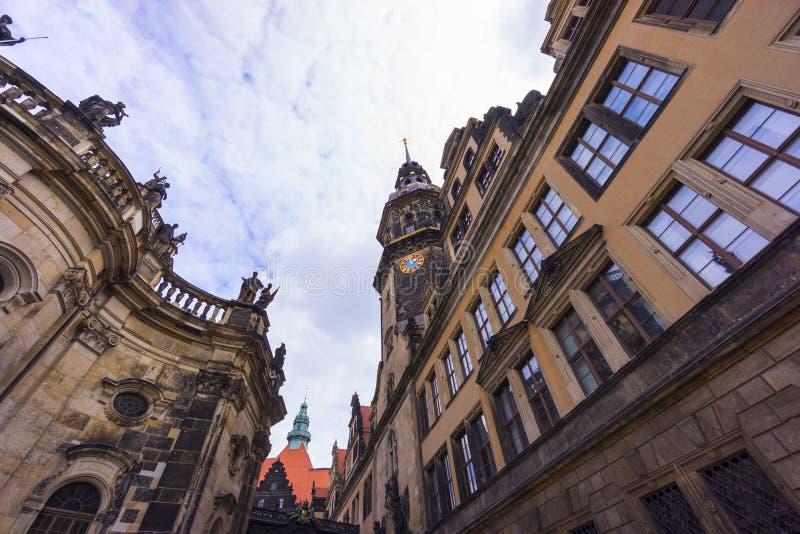 Opinión de la calle de Dresden imagenes de archivo