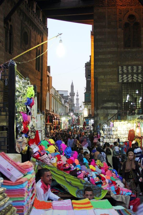Opinión de la calle de Egipto El Cairo en África foto de archivo libre de regalías