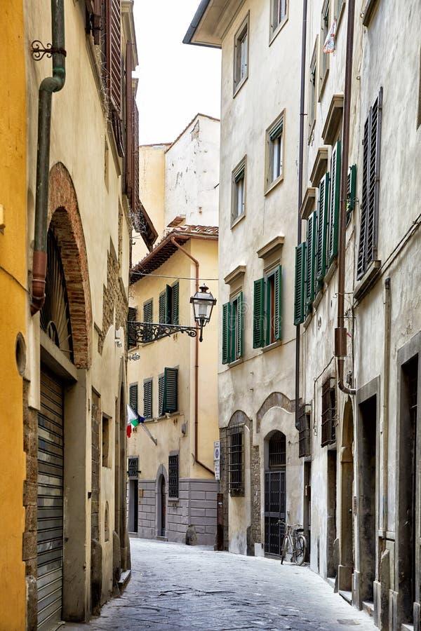 Opinión de la calle de Florencia foto de archivo libre de regalías