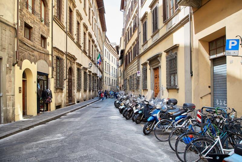 Opinión de la calle de Florencia foto de archivo
