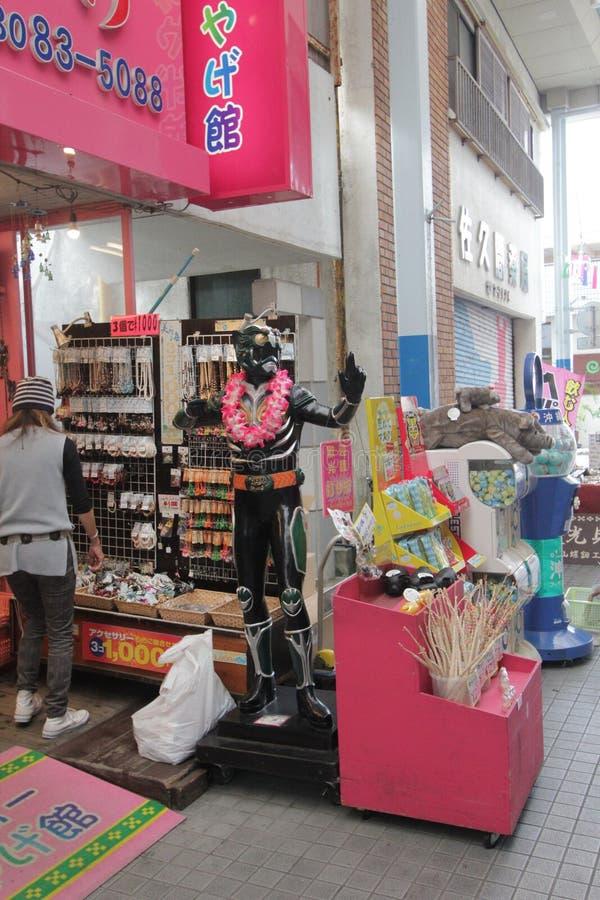 Opinión de la calle de Ishigaki en Japón imágenes de archivo libres de regalías
