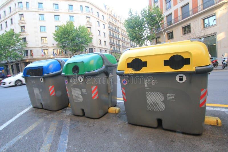 Opinión de la calle de la ciudad de Barcelona foto de archivo